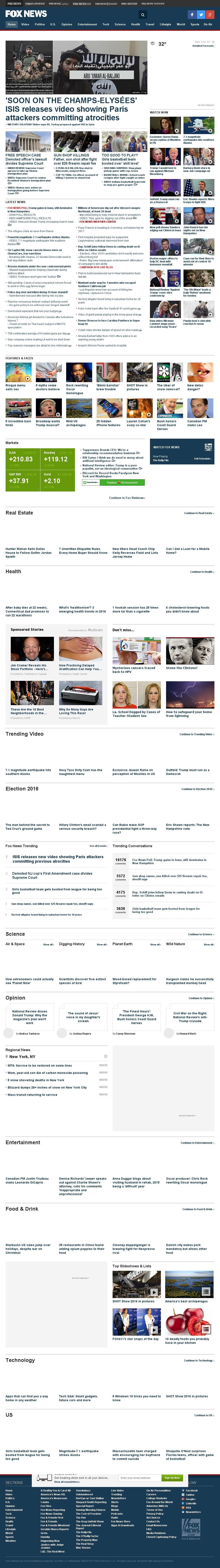 Fox News at Monday Jan. 25, 2016, 4:06 a.m. UTC