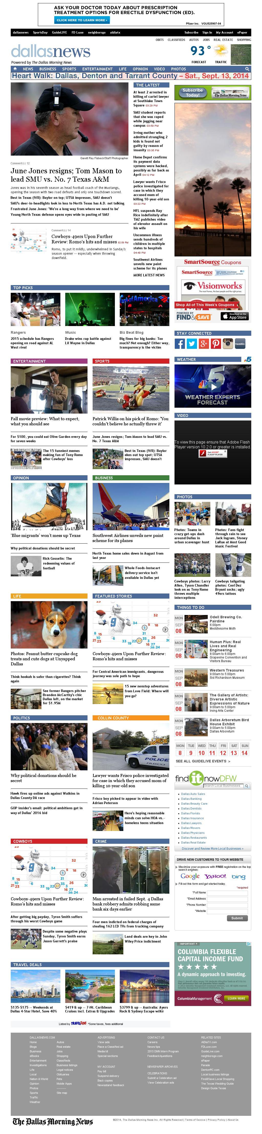 dallasnews.com at Monday Sept. 8, 2014, 10:05 p.m. UTC