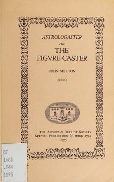 Cover of: Astrologaster   Melton, John Sir