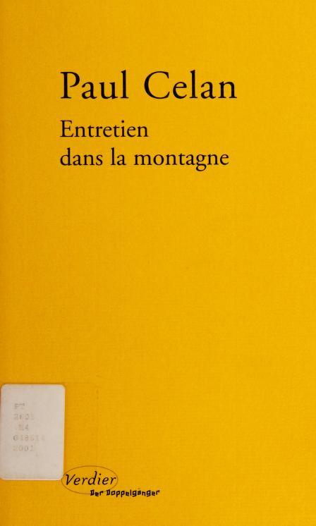 Entretien dans la montagne by Paul Celan